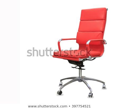 красный офисные кресла изолированный белый вид сзади черный Сток-фото © cherezoff