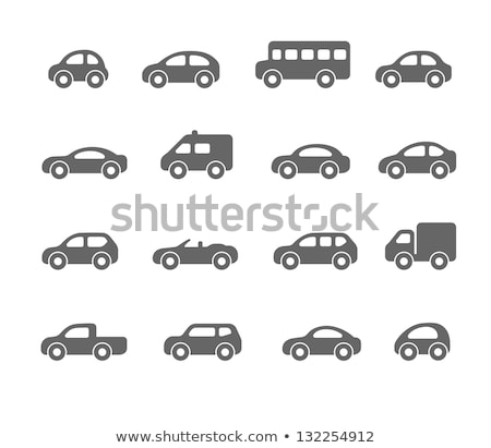 Mentő autó fekete ikon egy szín Stock fotó © MaxPainter