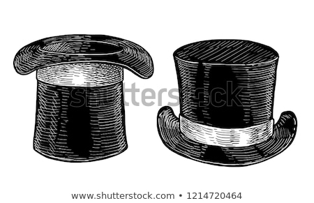 Black Top Hat vector illustration  Stock photo © nezezon