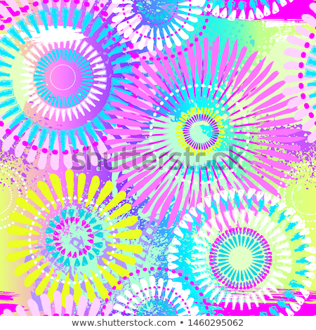 Brushed circles - seamless vector background Stock photo © ExpressVectors