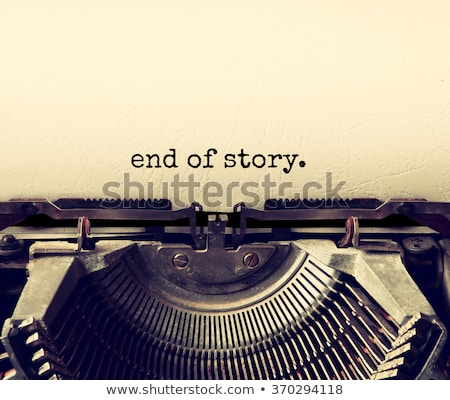 retro typewriter and text the end Stock photo © nito