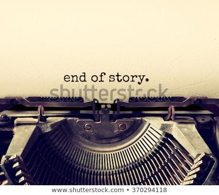 macchina · da · scrivere · fine · primo · piano · vecchio · stile · antichi · parole - foto d'archivio © nito