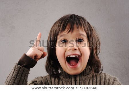 Schoolboy, series of clever kid 6-7 years old with facial expres Stock photo © zurijeta