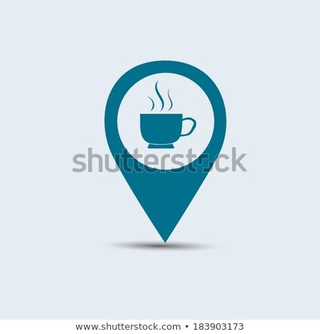 стрелка указывая красный чашку кофе кофе Сток-фото © viperfzk