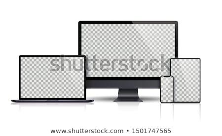 Zwarte scherm schaduw witte Stockfoto © limbi007