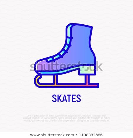 Speed skating line icon. stock photo © RAStudio
