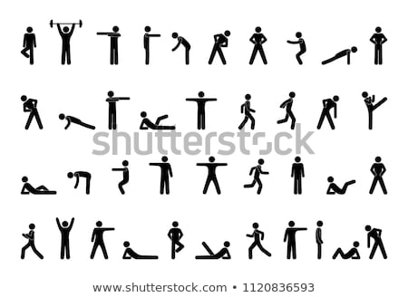 icons design of people doing sports stock photo © bluering