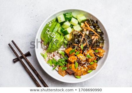 vegetariano · ensaladera · alimentos · ensalada · comer · zanahoria - foto stock © M-studio