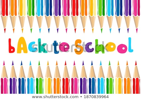welcome back to school in frame over green background Stock photo © marinini