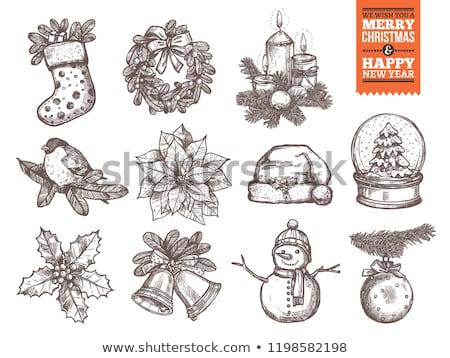 Doodle Snow Ball Icon Stock photo © pakete