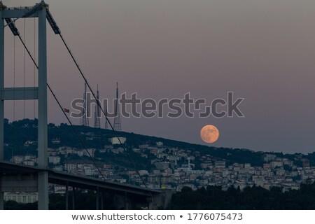 Fullmoon night over the bridge Stock photo © bluering