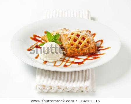 Klein nederlands gebak ijs saus zoete Stockfoto © Digifoodstock