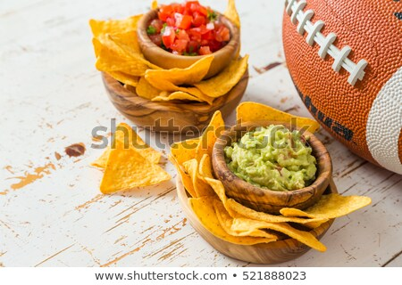nachos,salsa and guacamole Stock photo © M-studio