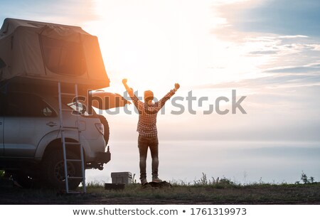 Stock photo: Top of a Tent