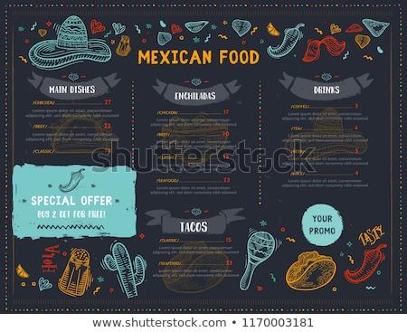 fiesta · mexican · party · illustrazione · chitarra · deserto - foto d'archivio © adrenalina