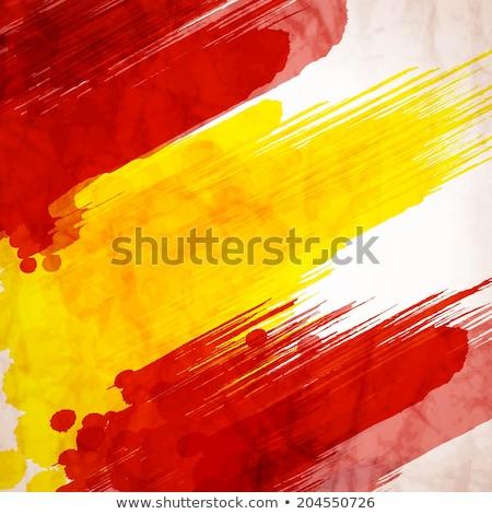 Espanha bandeira símbolo edifício futebol dançar Foto stock © doomko