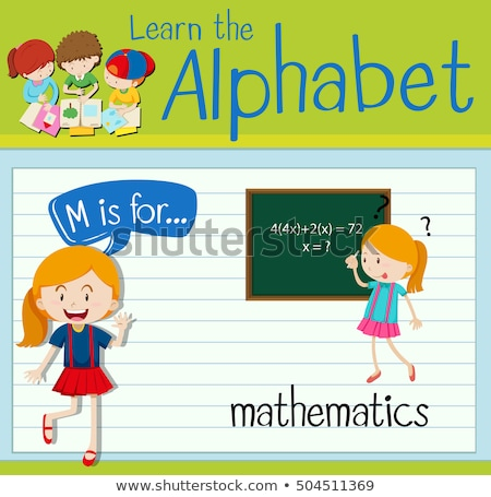 Flashcard letter M is for mathematics Stock photo © bluering