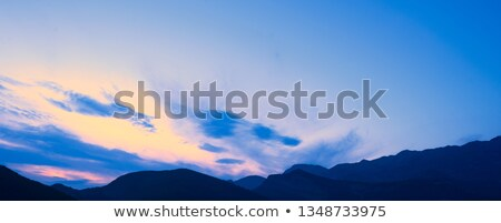 Stock photo: Sunset in the Mountains. Dinaric Alps, Orjen and Lovcen mountains, Montenegro