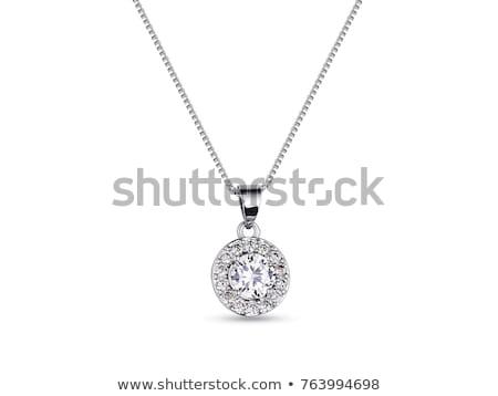 Diamant sieraden ketting Blauw Stockfoto © Akhilesh