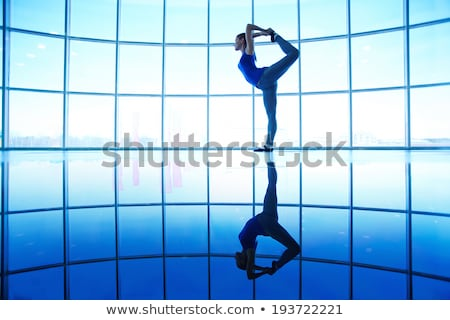 Pretty girl doing physical exercises isolated on white Stock photo © Elnur