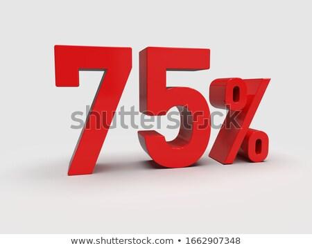 Rood · procent · geïsoleerd · witte · financieren · markt - stockfoto © oakozhan