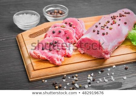 Schweinefleisch Filet Essen Fleisch Stock foto © Digifoodstock