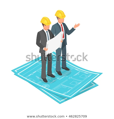 isometric people   blueprint stock photo © anatolym