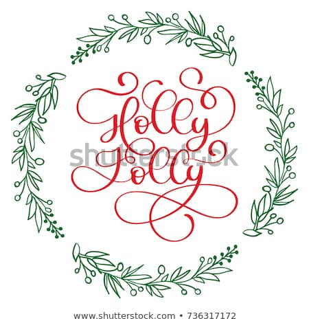 Holly Holiday Wreath Stock photo © Lightsource
