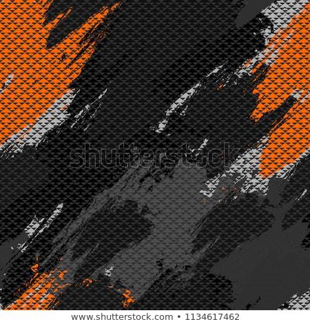 absztrakt · folt · végtelen · minta · fekete · piros · textúra - stock fotó © vanzyst