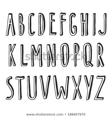 Stockfoto: Decoratief · vector · alfabet · brieven · communie