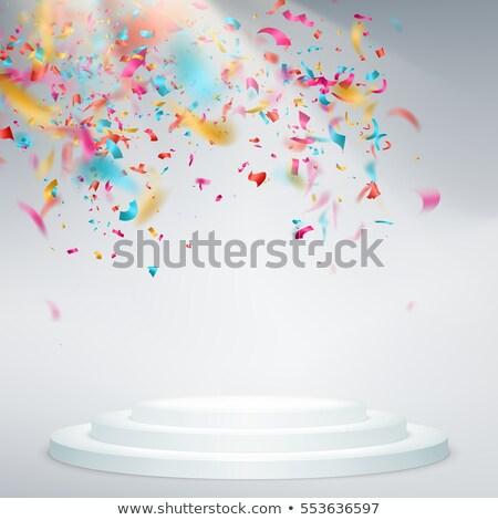 победителем подиум конфетти свет Лучи прибыль на акцию Сток-фото © beholdereye
