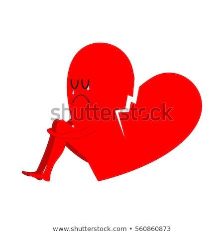 Broken heart symbol of unrequited love. Sad sign of betrayal and Stock photo © MaryValery