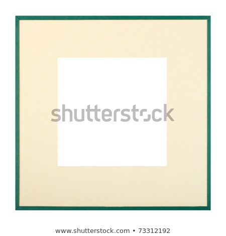 Dark green picture frame with beige matte Stock photo © ErickN