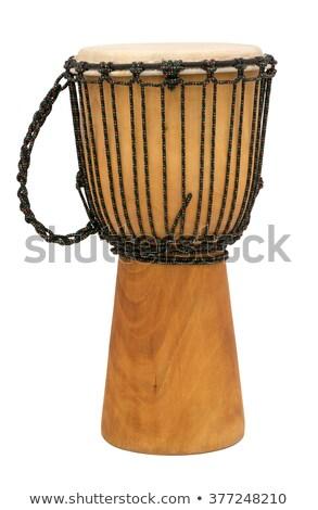 барабаны изолированный белый набор фон искусства Сток-фото © Kayco