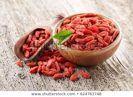 Stockfoto: Gedroogd · bessen · naast · klein · kom · vruchten