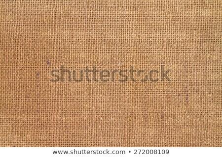 Close-up of natural burlap hessian sacking Stock photo © kayros