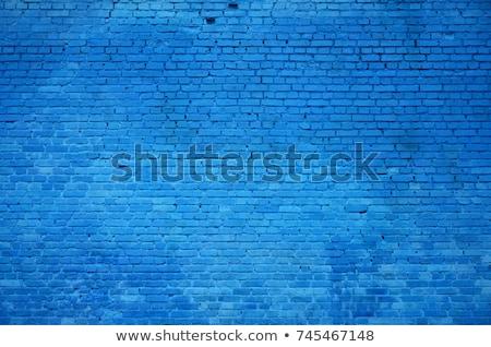 синий · окрашенный · стены · каменные - Сток-фото © dawesign