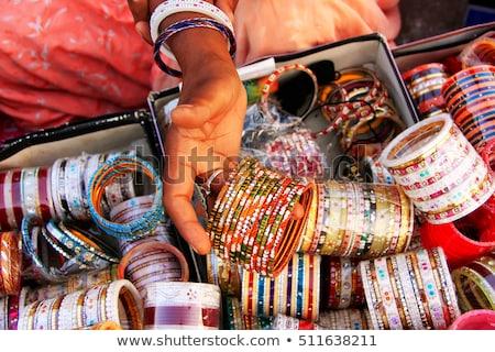 Saat kule pazar Hindistan ev Stok fotoğraf © Xantana