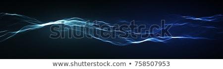 Abstrato 3D ondulado partículas tecnologia fundo Foto stock © SArts