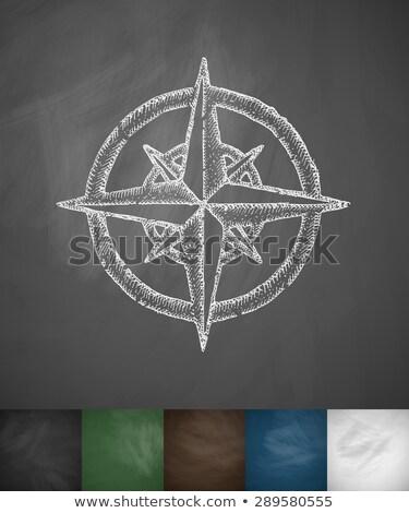 çizim · dünya · haritası · tebeşir · sınıf · tahta - stok fotoğraf © romvo
