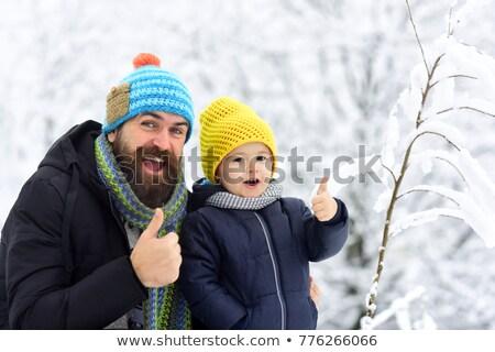 человека Hat куртка два Сток-фото © deandrobot