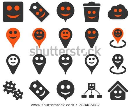 gülümsüyor · harita · simgeler · ayarlamak · stil - stok fotoğraf © ahasoft