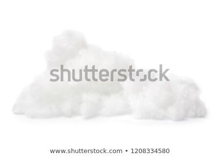 hoop · katoen · weefsel · materiaal · geïsoleerd · witte - stockfoto © artush