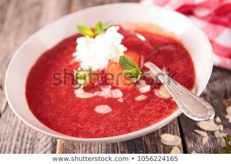 イチゴ · スムージー · ボウル · 健康 · 果物 - ストックフォト © digifoodstock