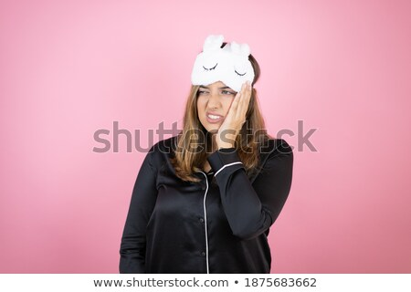 Vrouw sterke kiespijn pijn handen Stockfoto © Nobilior