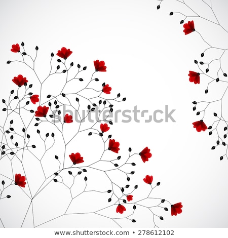 Red flowers growing on a tree Stock photo © Phantom1311