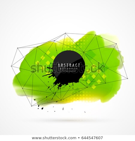 green watercolor grunge with wireframe mesh Stock photo © SArts