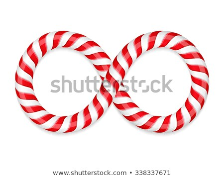 colorful infinity symbol made with stripes Stock photo © SArts