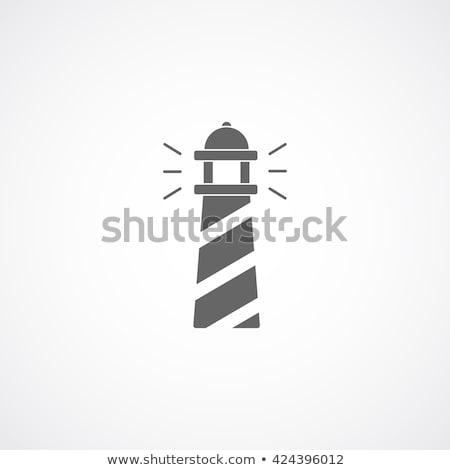 Odizolowany latarni ikona logo obiektu wektora Zdjęcia stock © Loud-Mango