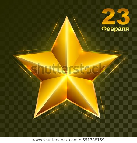 Gold star on transparent background. Defender of Fatherland Day in Russia Stock photo © orensila